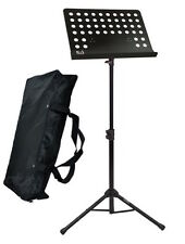 NJS Heavy Duty Orchestral Conductor Sheet Music Stand Instrument Band inc Bag