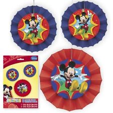 Mickey Mouse Clubhouse Birthday Party Disney 3 Hanging Paper Decor Fans