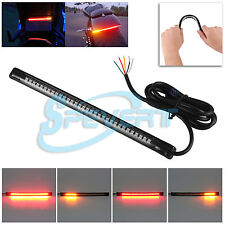 Flexible 32 LED Motorcycle Bike Tail Brake Rear Stop Turn Signal Strip Light Bar