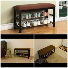 Shoe Rack Bench Hallway Storage Organizer Bedroom Entryway Furniture Stool Shelf
