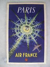 Carte postale CPA Publicité Air France reproduction d'une affiche - P.Baudouin