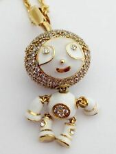 "Lauren G Adams Bubble Kids Pave Boy Necklace Gold, 36"" Chain, N-73401G, New"