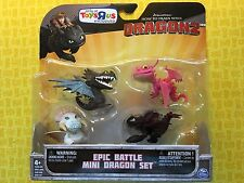 HOW TO TRAIN YOUR DRAGON TRU EPIC BATTLE 4-PACK MINI SET SKRILL TERROR TOOTHLESS
