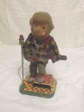 Vintage ROCK N ROLL MONKEY Guitar Playing Battery Op Toy Animated 1950s Japan