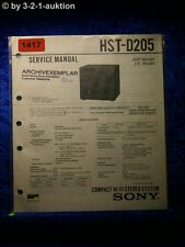 Sony Service Manual HST D205 Component System  (#1417)