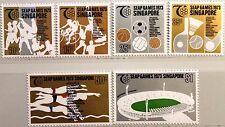 SINGAPORE SINGAPUR 1973 186-91 183-88 Judo Boxing Running SEAP Sport Games MNH