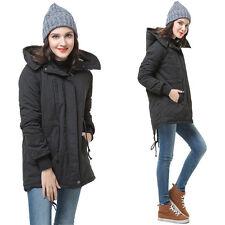 Women's Hooded Coat Women Overcoat Jacket Trench Warm Parka Winter Long Outwear