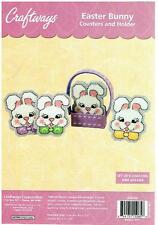 EASTER BUNNY COASTERS & HOLDER  plastic canvas  KIT  (#969)