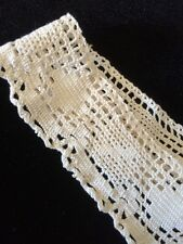 Antique Lace Irish Edwardian Trim Flounce Fabric Remnant Dolls Design Salvage