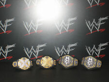 4 x Custom WWF WWE 2017 NXT Title Belts For Hasbro Mattel Jakks Wrestling Figure