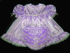 ADULT SISSY BABY SATIN BABY DRESS LAVENDER