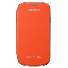 Genuine FLIP CASE COVER PER SAMSUNG GALAXY s3 i8190-Arancione Mini