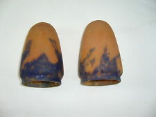 2 TULIPES PÂTE DE VERRE ART NOUVEAU ART DECO SHADES PASTE GLASS ART NOUVEAU