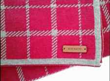 NWT COACH Winter Scarf Tattersall Berry Grey Wool Blend F85215 Reversible