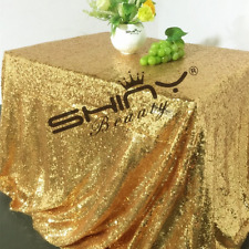 ShinyBeauty Rectangular Sequin Tablecloth Linen Overlay Wedding Event Party