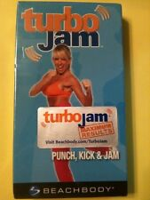 TURBO JAM BEACHBODY PUNCH, KICK & JAM VHS FITNESS BNIW. BRAND NEW