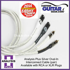Analysis Plus Silver Oval-In Interconnect Cable, PAIR, 0.5 Meters, RCA-RCA