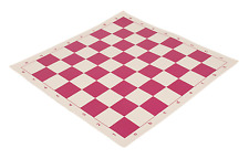 "20"" Vinyl Chess Board – Meets Tournament Standards - Pink - 2.25 Inch Squares"