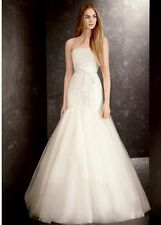 White by Vera Wang Ivory Sequin Organza Wedding Dress Size 16