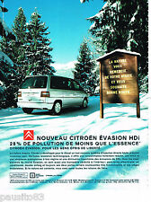 PUBLICITE ADVERTISING 065  2000  CITROEN EVASION HDI