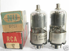 2 matched +/-1950 National-Union 6J7GT tubes - TV7B tested @ 55, 58, min:31