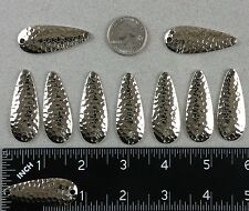 "TEN 1¾"" Casting Spoon Blanks Hammered Nickel Plated Steel .18 Ounce 1.75"" Long"