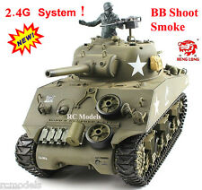 Heng Long Radio Remote Control 2.4 G RC TANK M4A3 SHERMAN 1 / 16A UK