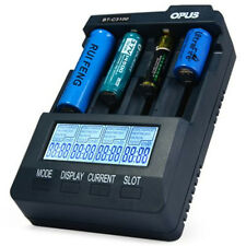 Opus BT-C3100 V2.2 Smart 4-Slots Battery Charger Analyzer Tester Li-ion NiMH