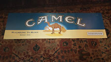Vintage Camel Lights poster Pleasure to Burn since 1913 RJR Tobacco 2000 15x49""