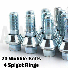 5x112 To 5x114.3 Conversion Alloy Wheel Wobble Vari Bolts Spigot Rings M14x1.5