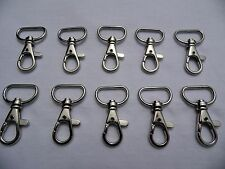 10 x METAL SWIVEL CLIP, BAG CLASP, SNAP HOOK, TRIGGER CLIP 20mm Strapping