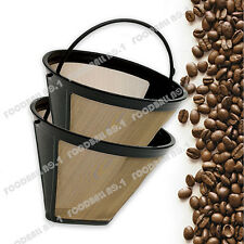 Discount Reuse GTF 8-14 Cup # 4 Cone Cuisinart GoldTone Coffee Filter Free Gift