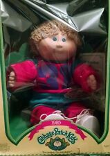VINTAGE 1985 CABBAGE PATCH KIDS DOLL BOY  BLONDE HAIR BLUE EYES COLECO EXCLNT