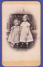 32 44 ★ CDV-Foto dat. 1869: Charlotte & Alice von Humbert als Mädchen; Dresden