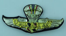Original Rare Thai Parachute Wings Chrome & enamel Badge - Thailand Free-Fall