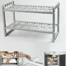 UNDER SINK CADDY RACK STORAGE ORGANISER SHELF UNIT ADJUSTABLE SHELVES CABINET