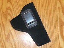 "BLACK-IWB Leather Concealment Holster USA Quality! 3"" Revolvers, Smith, Colt"