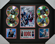 AC DC MEMORABILIA 4cd FRAMED SIGNED LIMITED EDITION