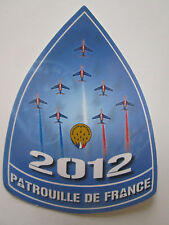 AUTOCOLLANT STICKER ARMEE DE L'AIR ALPHA JET DASSAULT PATROUILLE DE FRANCE 2012