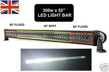 "52"" 300W LED Flood Lamp Spot Beam Offroad Driving 4WD Jeep SUV Boat Light Bar"
