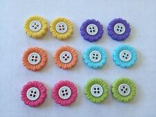 Sew thru multicoloured light flowers Novelty Dress It Up buttons 6943