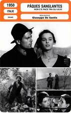 FICHE CINEMA : PAQUES SANGLANTES - Vallone,Bosé,Lulli 1950 Under The Olive Tree