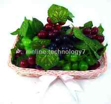 A Bunch of Artificial Grapes Fruit in 3 Color+exquisite basket,Home party decor