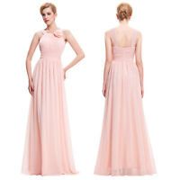 New Chiffon Long Wedding Bridesmaid Gown Ball Evening Cocktail Prom Party Dress