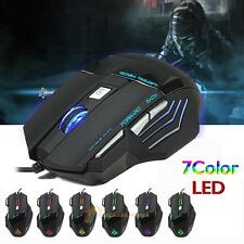 5500DPI A908 7 Buttons USB LED Optical Wired Gaming Mouse For PC Laptop Gamer