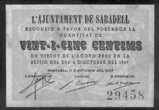 Mairie SABADELL 25 Centimes @ Valles Oriental - Barcelone @