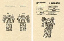 Transformers DEVASTATOR US Patent Art Print READY TO FRAME! Combiner Decepticon