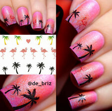 1Sheet Hawaii noix de coco arbre Ongles Nail Art Water Decal Transfer Sticker
