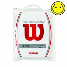 New Wilson Pro Overgrip Perforated 12 Pack Tennis Over Grip - Comfort -  White