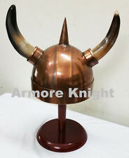 Spiked Viking Helmet with Horns Medieval King Armor Helmet Costume Helmet
